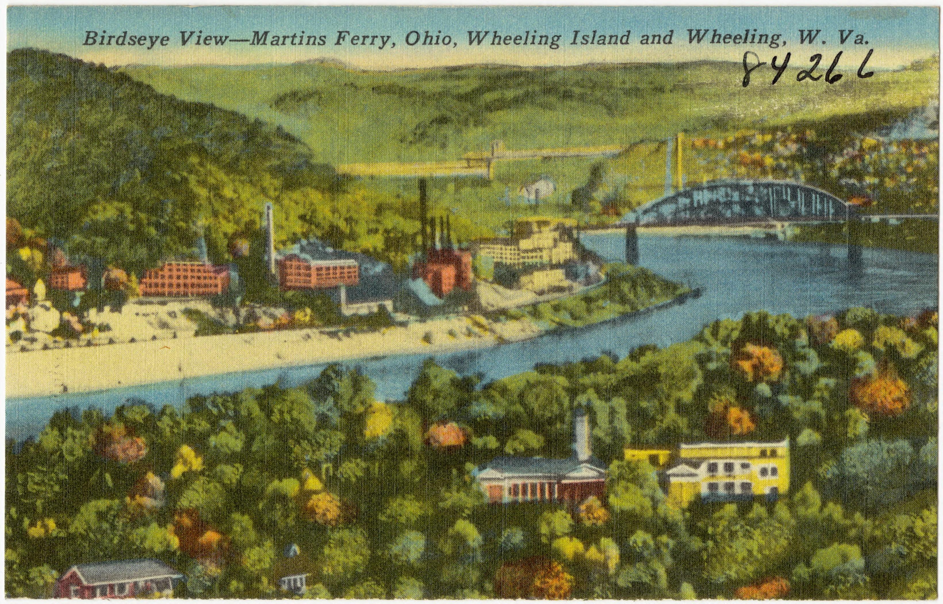 File Birdseye View Martins Ferry Ohio Wheeling Island