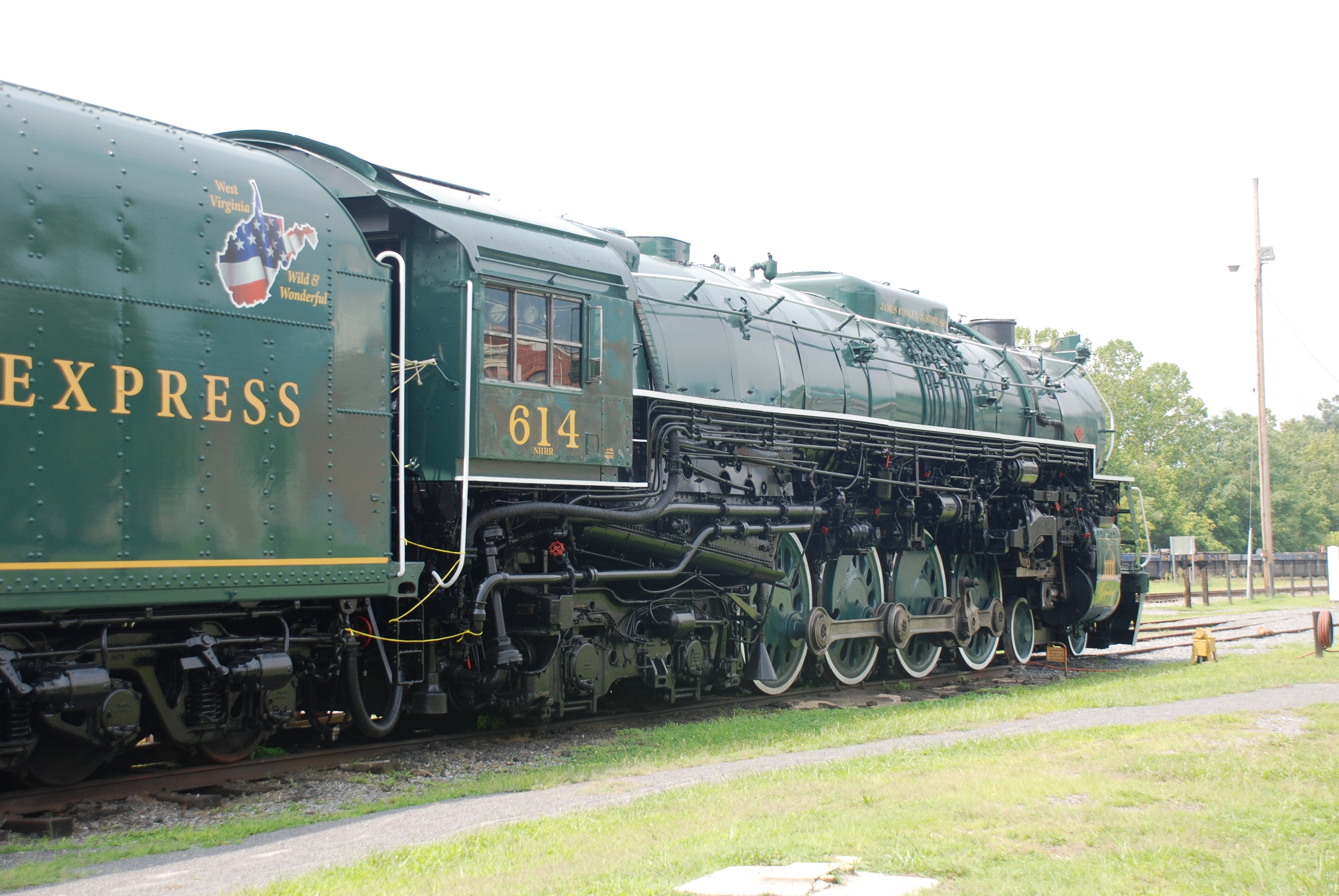 File:C&O Railway Heritage Center - C&O 614 Locomotive ...
