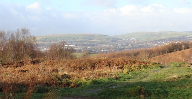 Caerphilly from Rudry Common - geograph.org.uk - 1069816