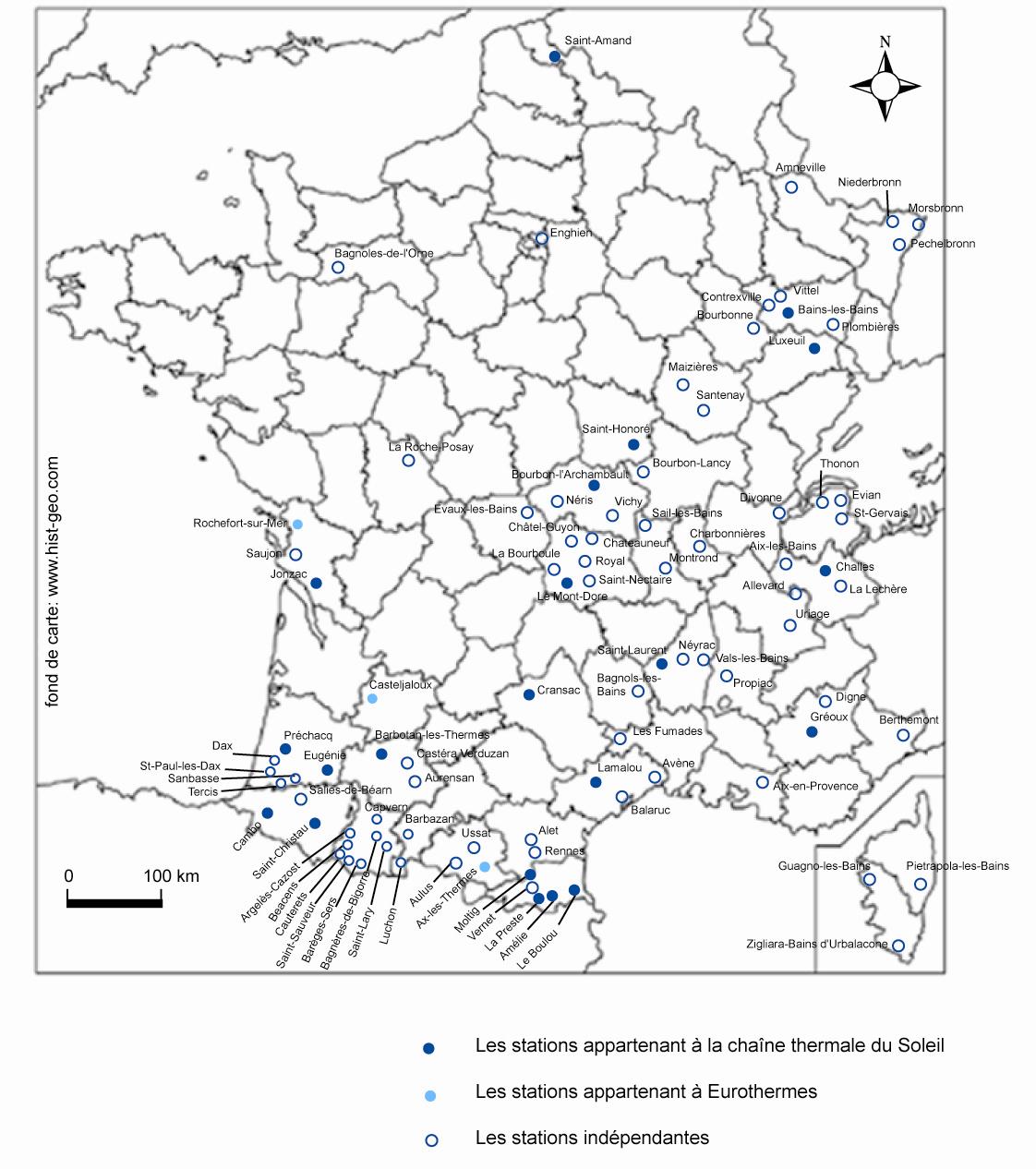 File carte des villes thermales en wikimedia commons - Villes d ile de france ...
