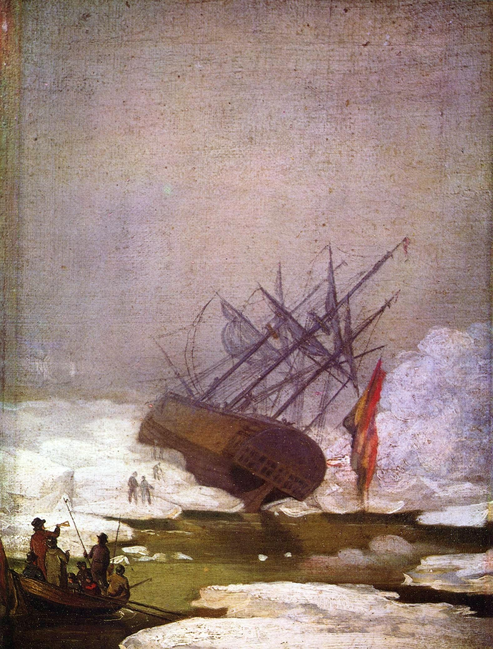 Naufragio de Caspar David Friedrich