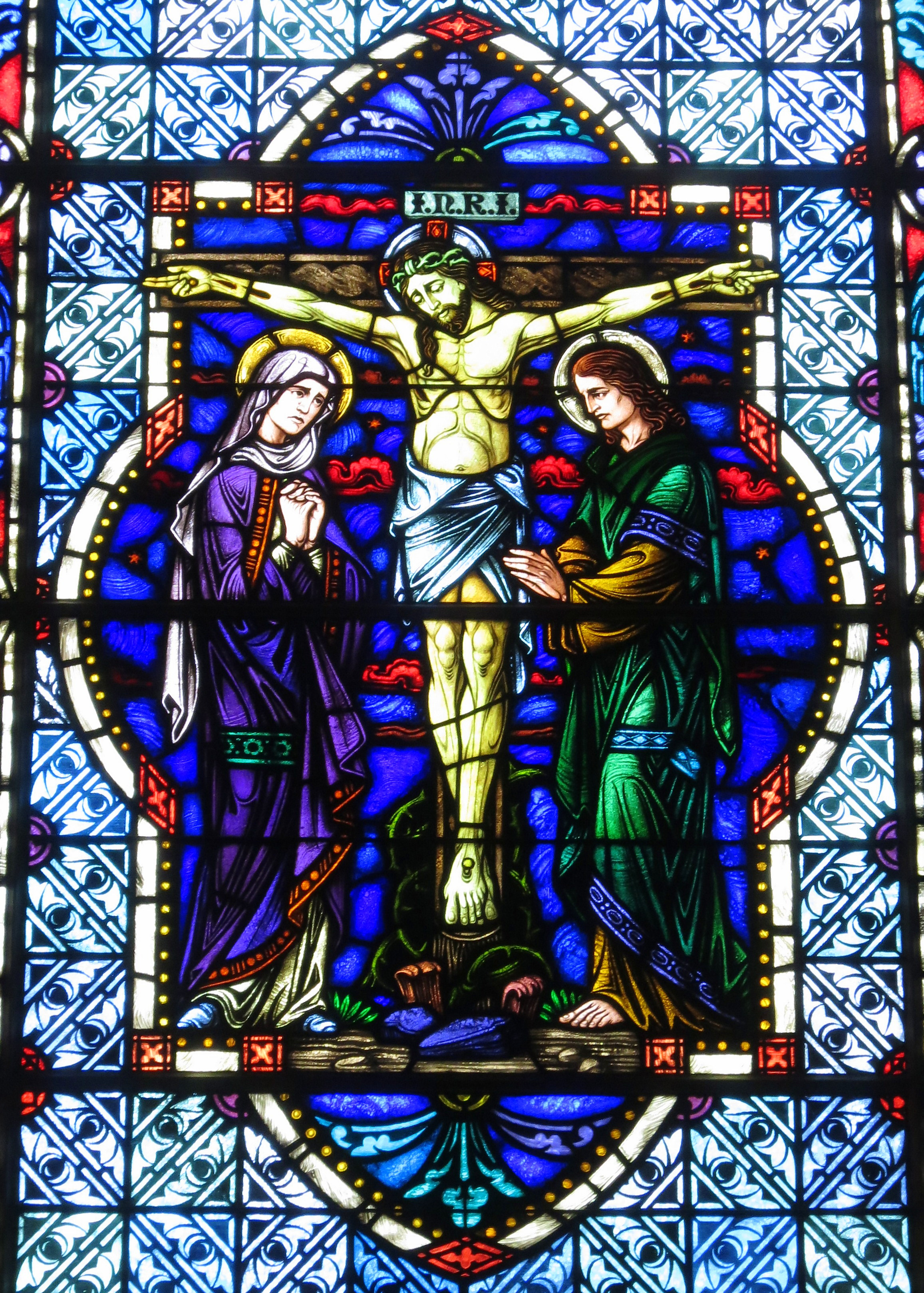Church Crucifix Stained Glass