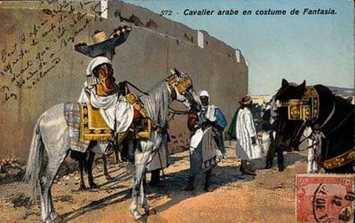 File:Cavalier arabe en costume de Fantasia - Tunisie.jpg