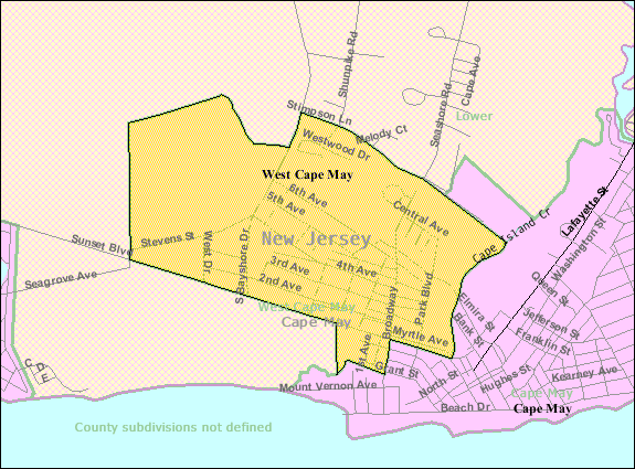 File:Census Bureau map of West Cape May, New Jersey.png ... on rehoboth beach, jersey shore, long branch, ocean county, cape may lighthouse, town of cape may map, mercer county, leonia new jersey map, cape may beach map, atlantic city, cape may tourist map, cape may county, cape may county herald, town bank cape may map, cape may downtown map, cape may city map, southern new jersey map, stone harbor, sea isle city, delaware bay, south jersey, asbury park, rio grande, belmar new jersey map, cape may street map, cumberland county new jersey map, cape may diamonds, cape may sound, ocean city, lawrence township new jersey map, strathmere new jersey map, allentown new jersey map, cape may national wildlife refuge map, cape may county map, cape may nj,