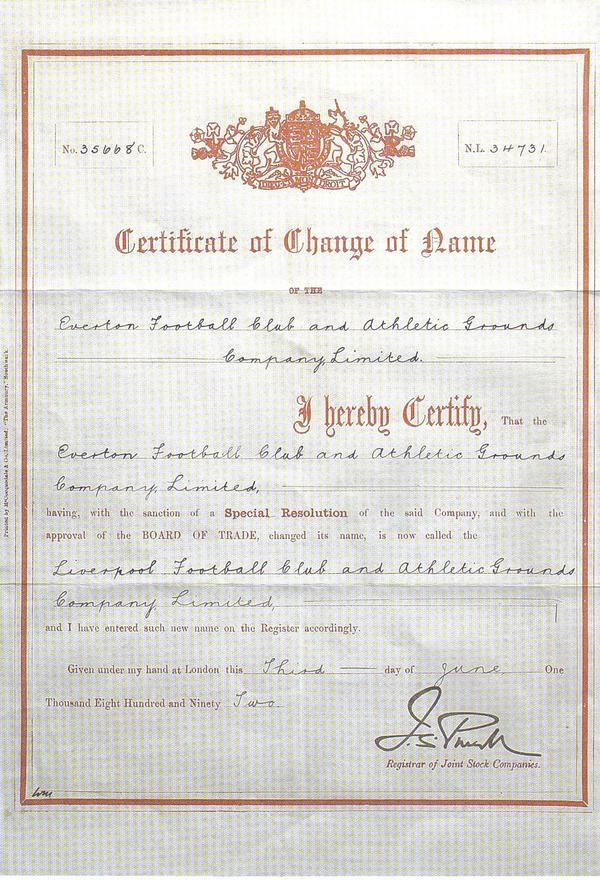 Filecertificate Of Change Of Name To Liverpool Fcg Wikimedia