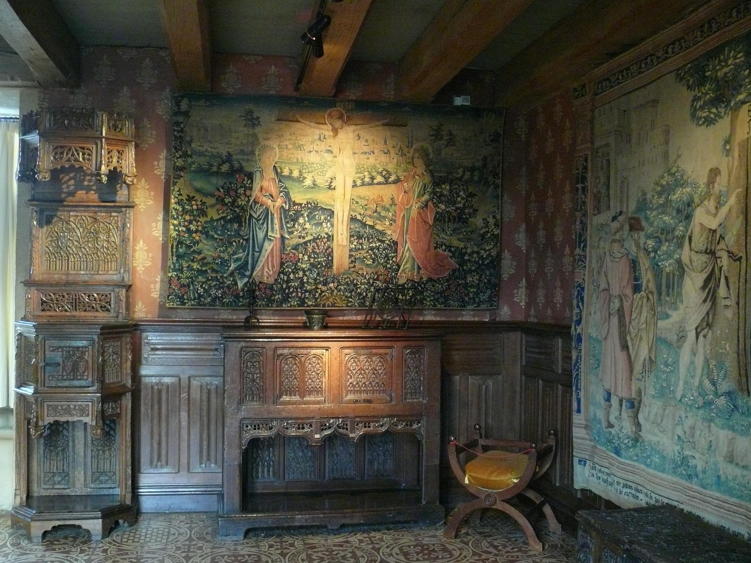 File chateau de langeais chambre de parement jpg for Interieur 19eme siecle