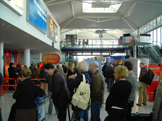 Check-in hall, Bristol Airport, Lulsgate Bottom, Somerset - geograph.org.uk - 377609