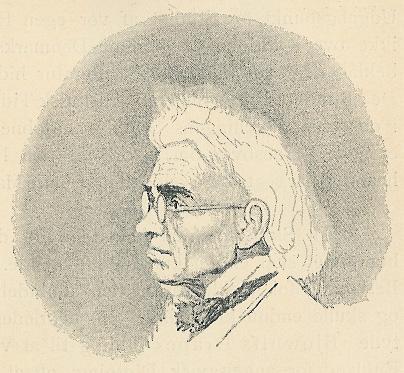 Christian Molbech, drawing by J.V. Gertner.