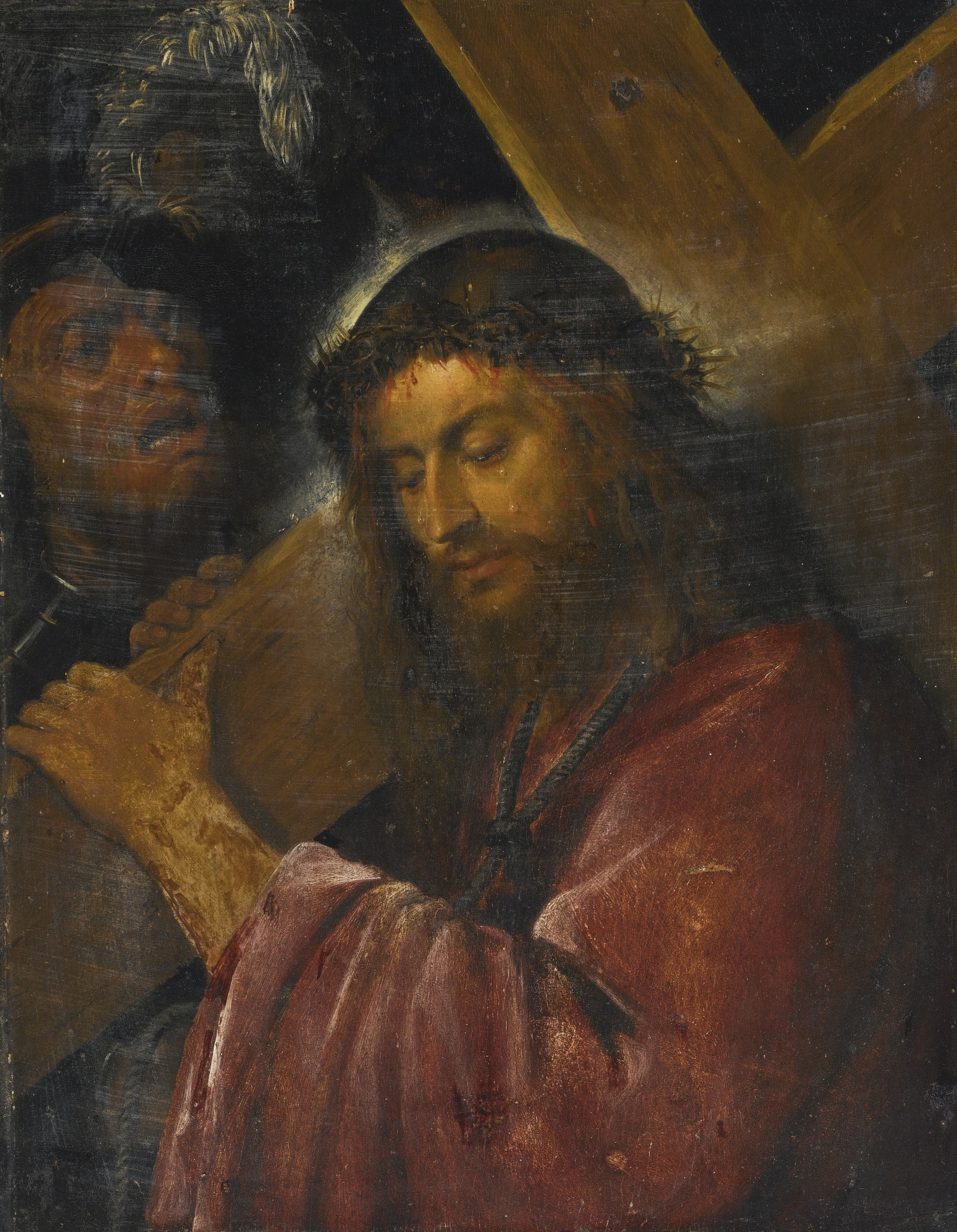 File:Circle of Titian Christ Carrying the Cross.jpg - Wikimedia Commons