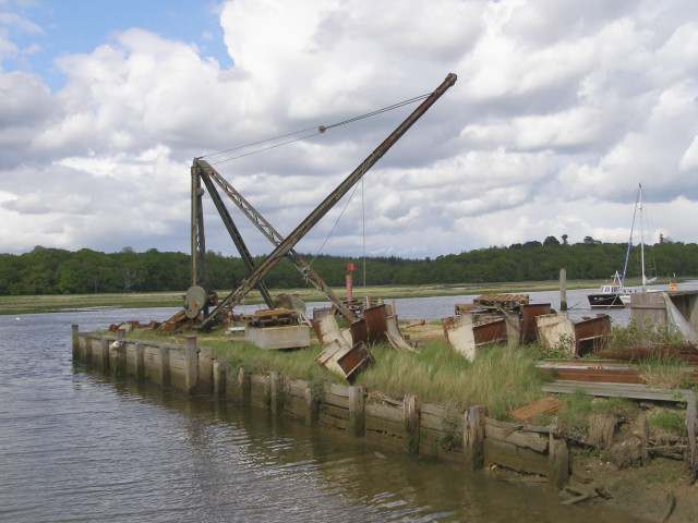 Crane on the quay at Bucklers Hard - geograph.org.uk - 177051