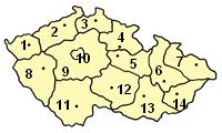 Kaart fan Tsjechje