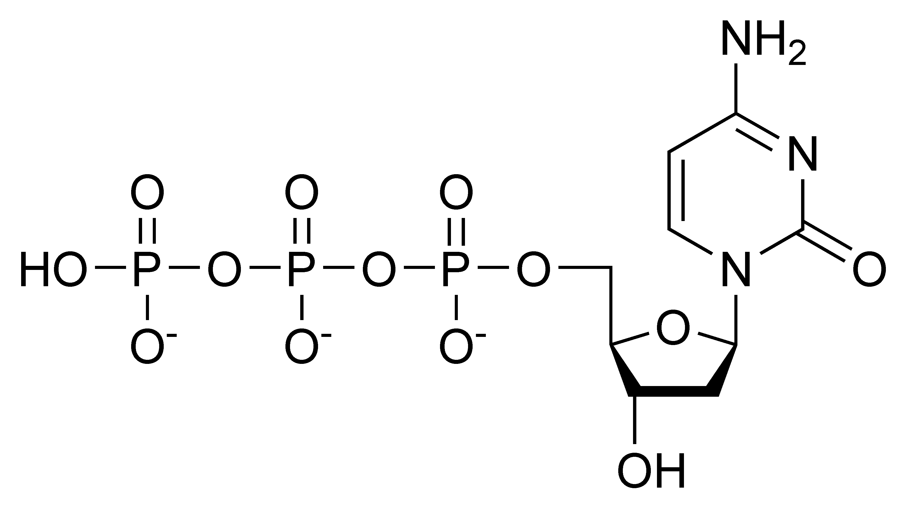 Chemical structure of deoxycytidine triphosphate