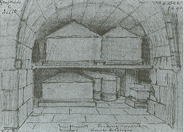 De oude grafkelder in Delft