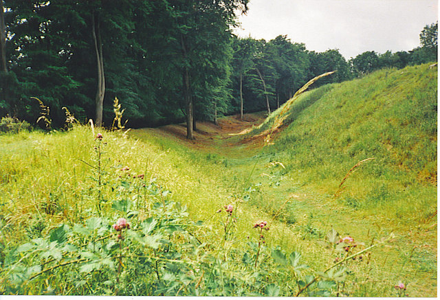 Ditch and Ramparts, Danebury Hillfort - geograph.org.uk - 251470