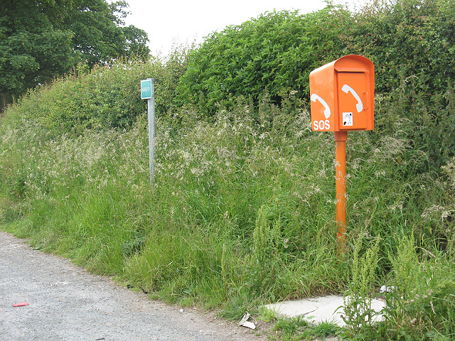 Emergency phone on the A65 at Thorlby - geograph.org.uk - 1397222