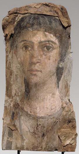 File:Fayum mummy portrait, female (circa 55-70 AD), Christie's.jpg