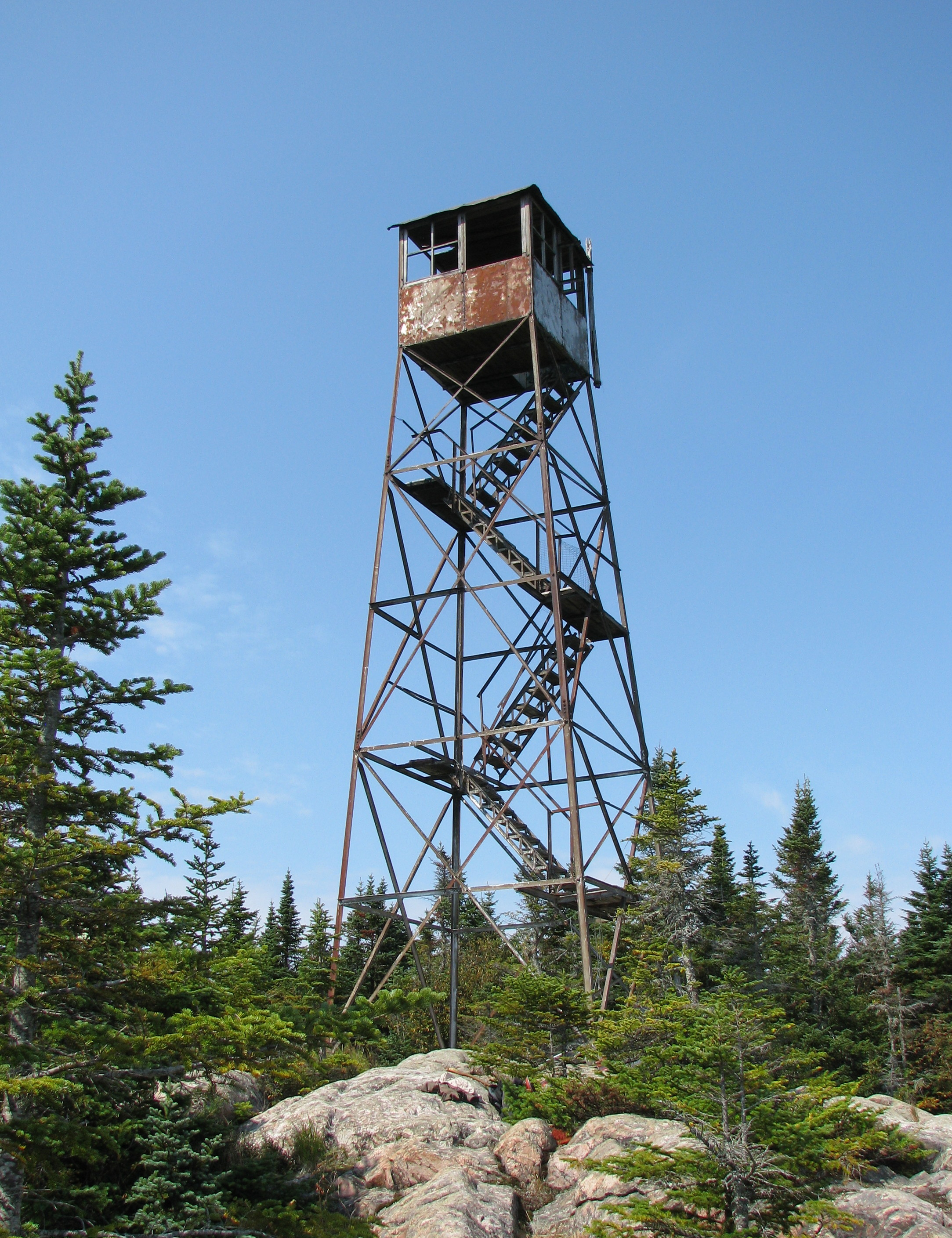 file fire observation tower on the summit of loon lake