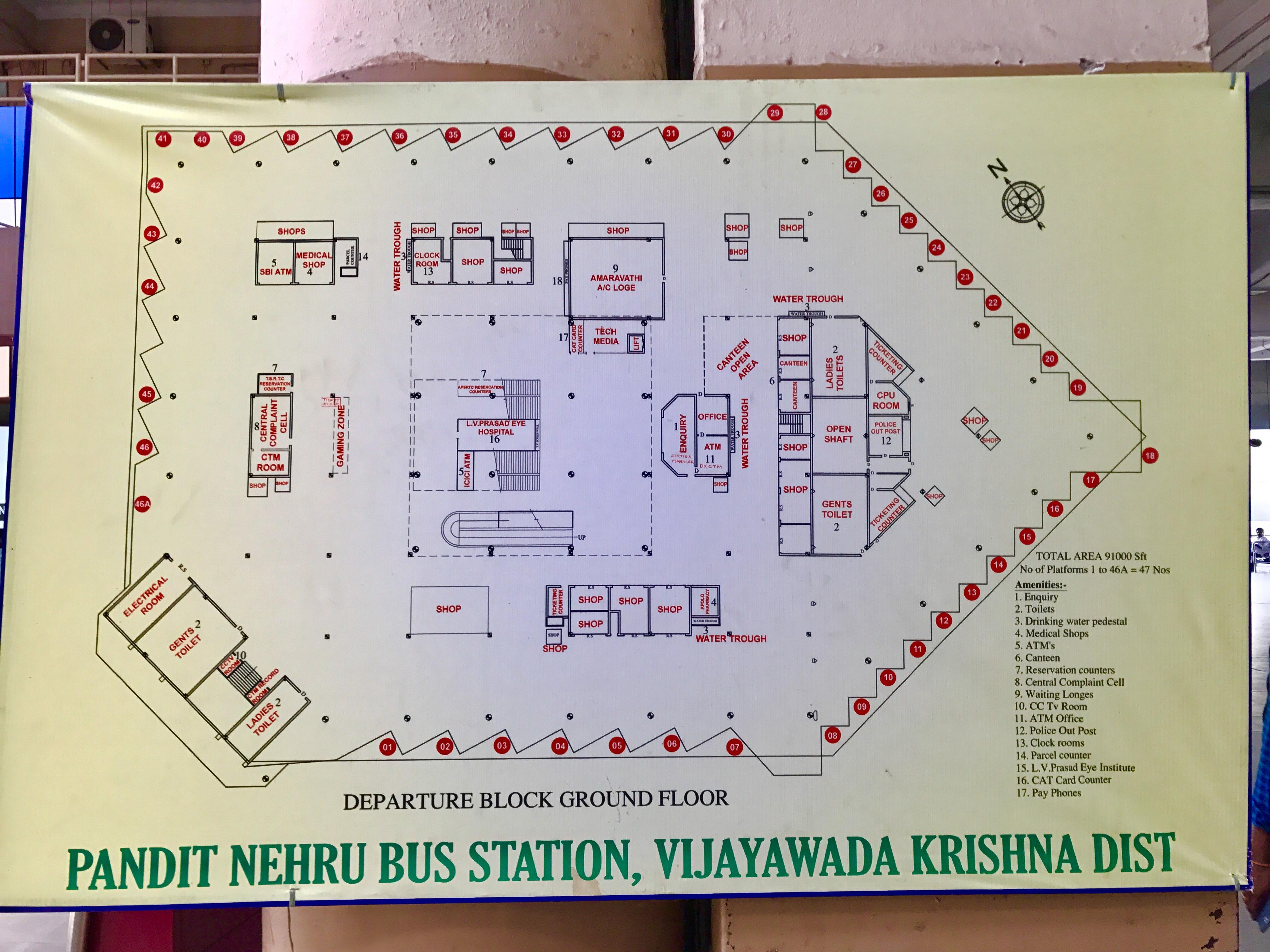 File Floor Plan Of Pandit Nehru Bus Station S Departue Block Jpg Wikimedia Commons