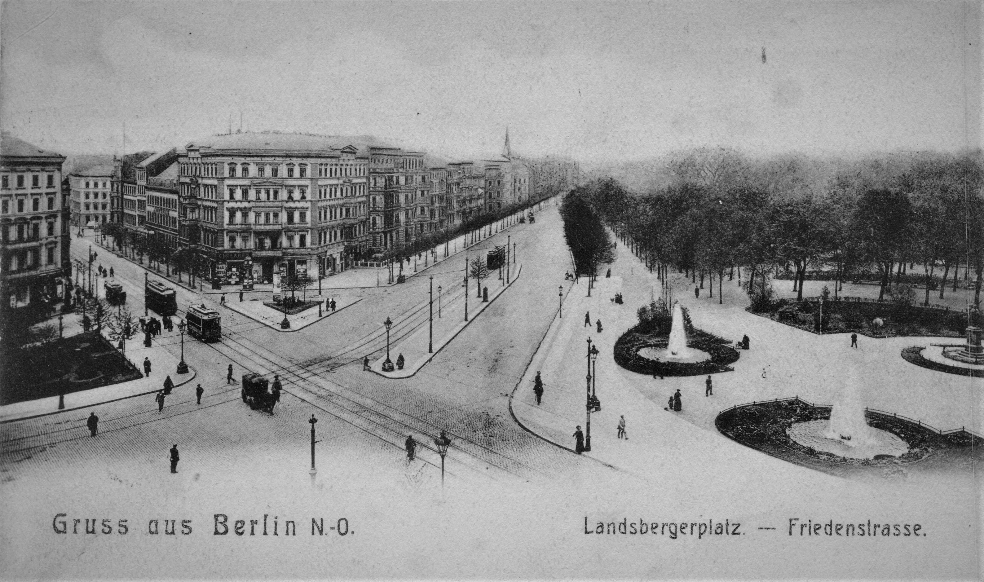 postkarte landsbergerplatz berlin 1910
