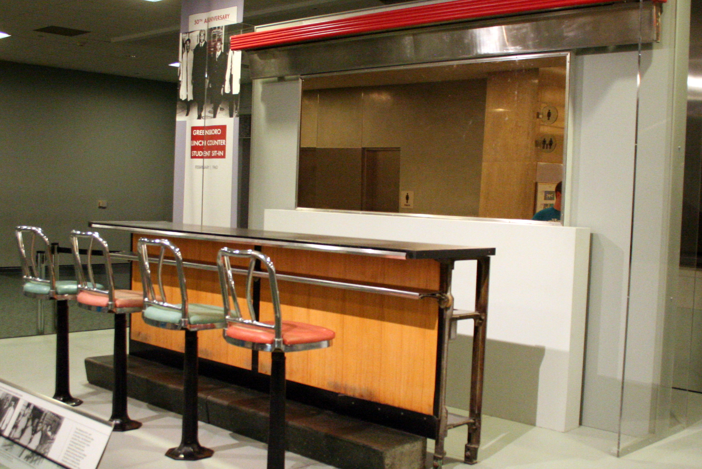 File Greensboro Sit In Lunch Counter Jpg Wikimedia Commons
