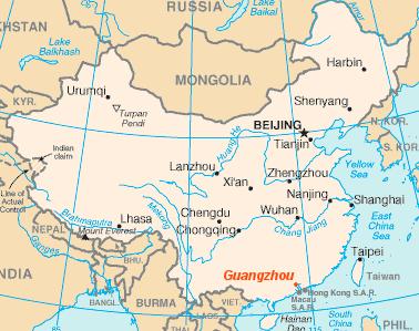 Vị trí tại Trung Quốc
