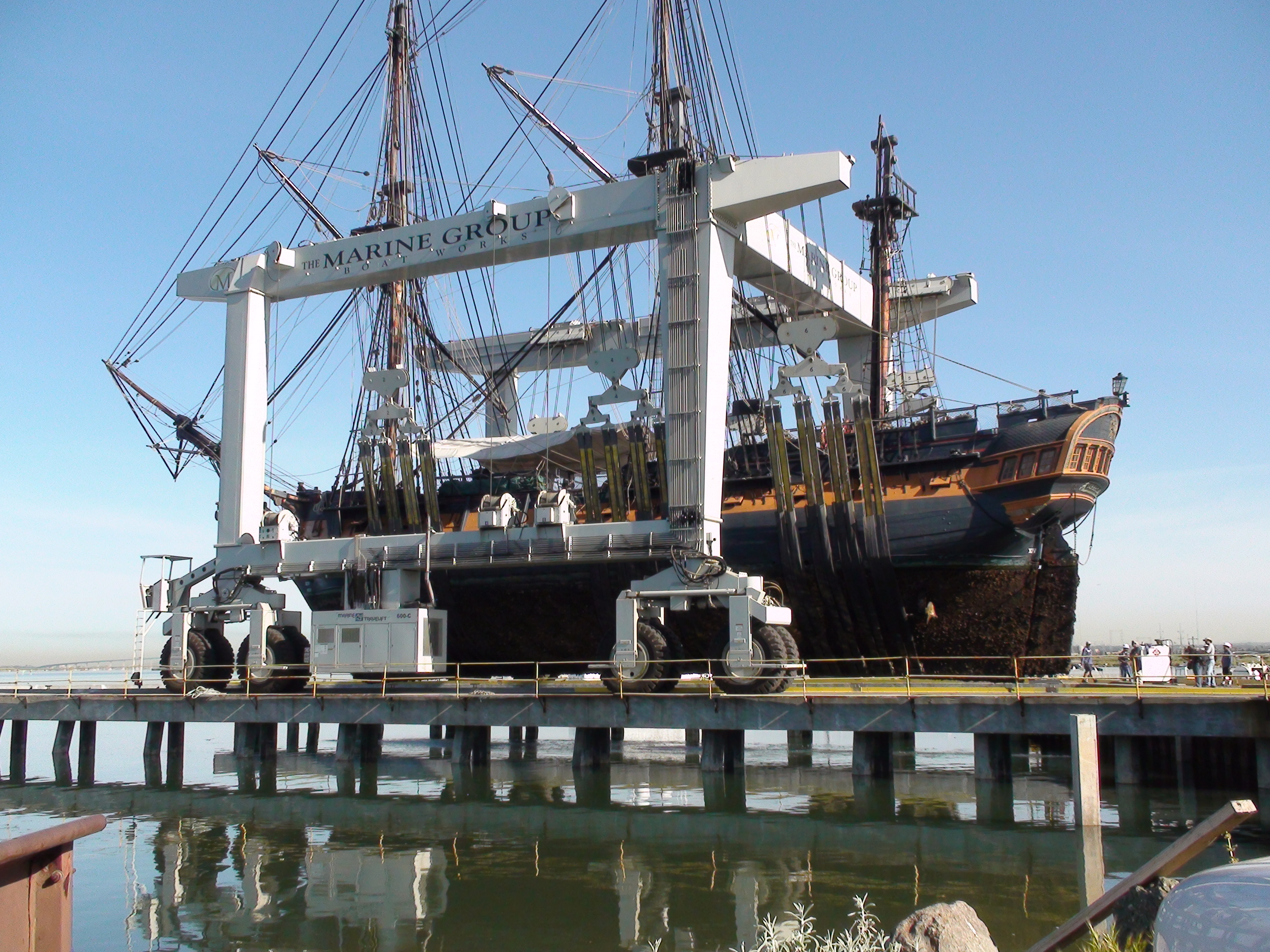 File:HMS Surprise at Chula Vista Marine Group Boat Works ...