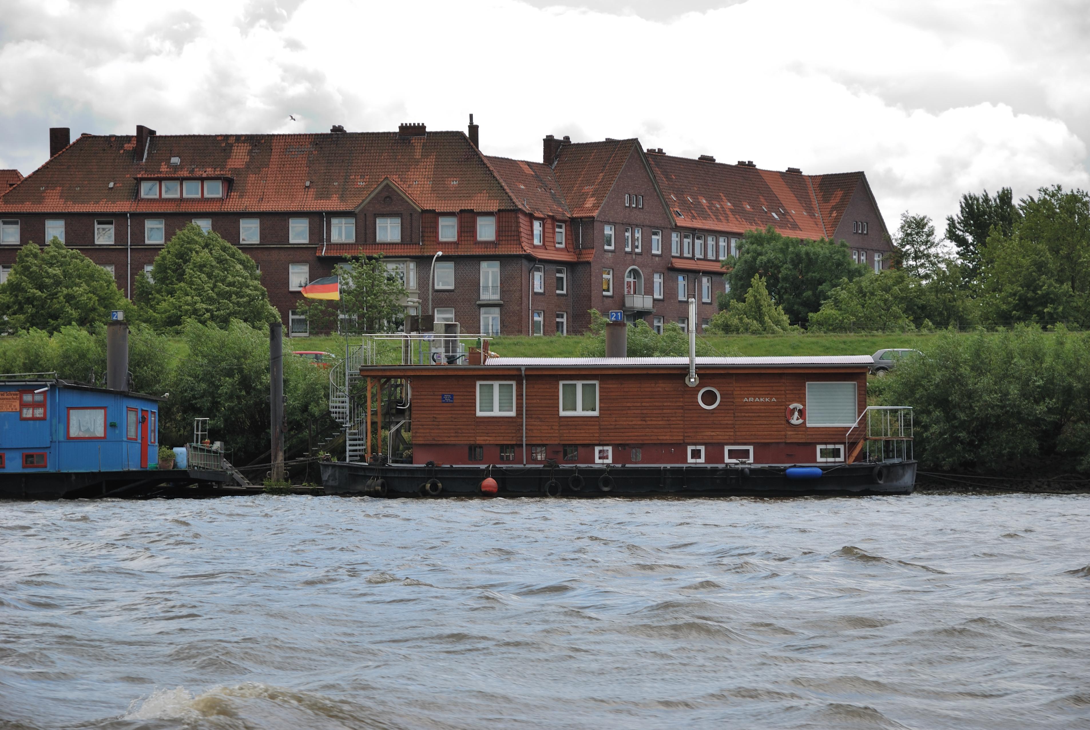 Hausboot Hamburg file hamburger hafen hausboot jpg wikimedia commons