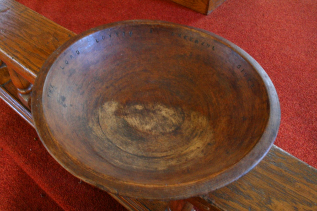 File:Hand carved offering plate - West Virginia ...