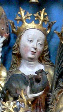 Heilsbronn, Münster St. Marien und Jakobus, Vierzehn-Nothelfer-Altar (1498)