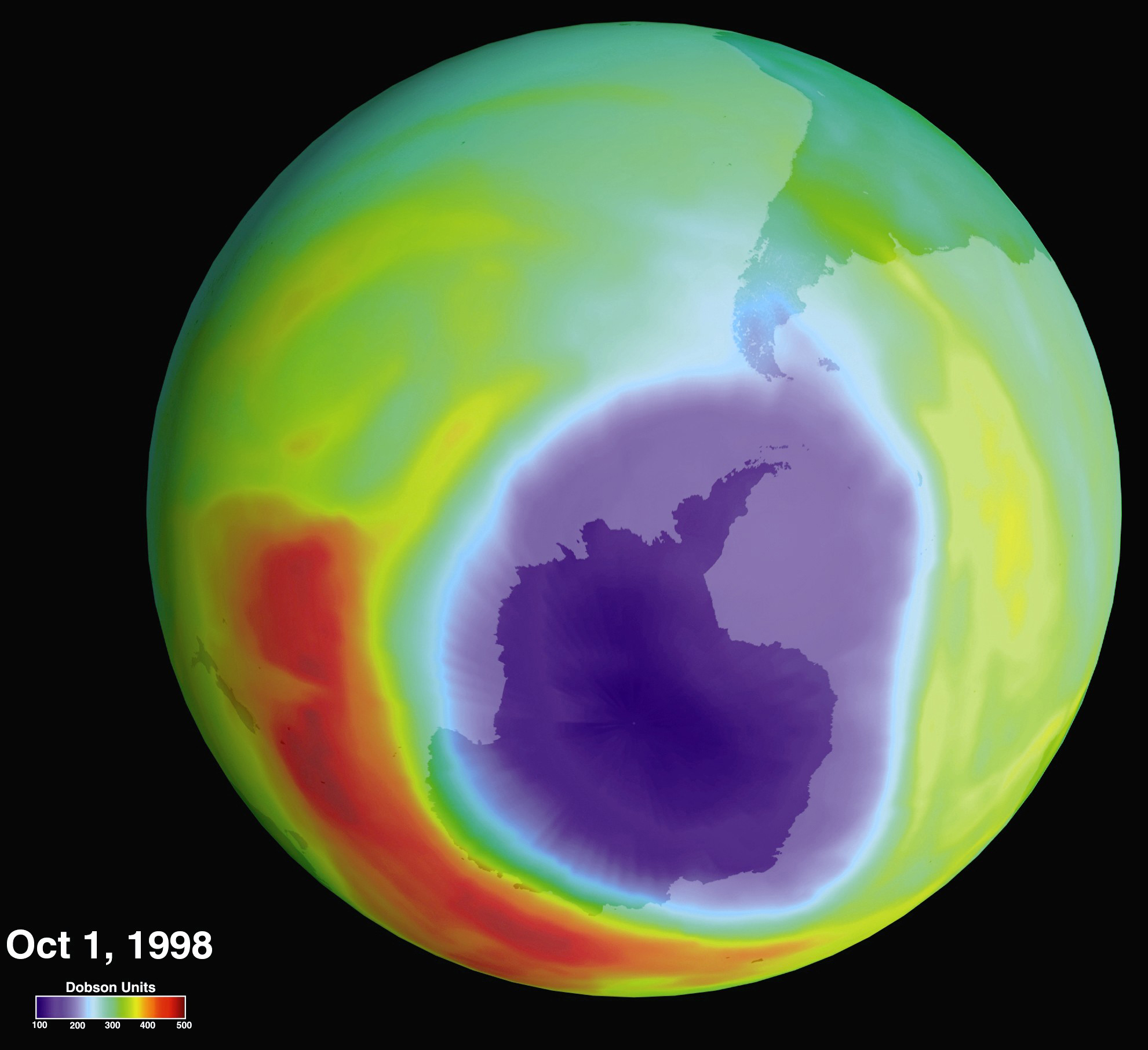 Filehole In The Ozone Layer Over Antarctica Gpn   Jpg Wikimedia Commons