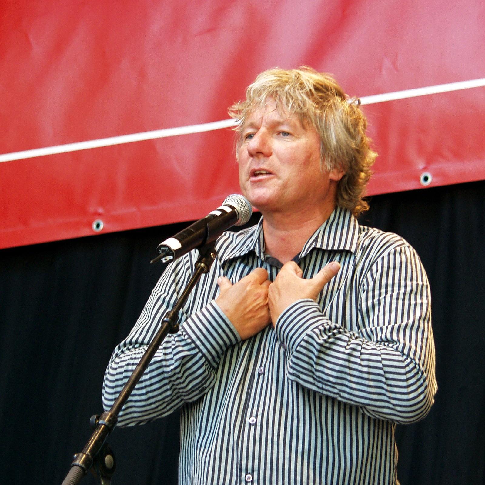 "Jürgen Becker at ""Kölner Herztag"" 2007 (""Kölner Infarkt Modell"") in Cologne."