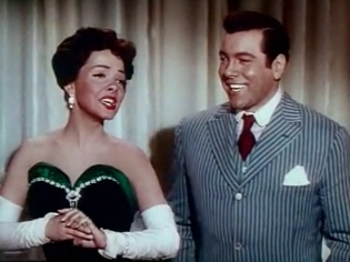 avec Mario Lanza dans The Toast of New Orleans