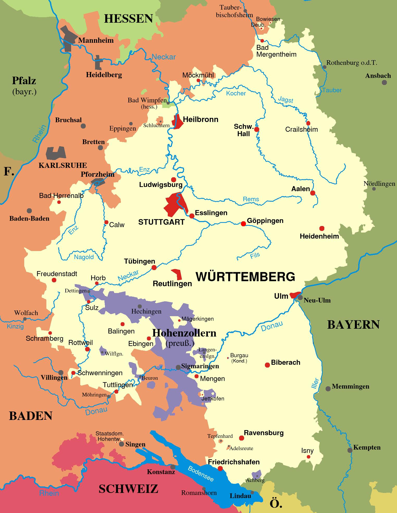 W rttemberg Wikiwand – Ulm Germany Map