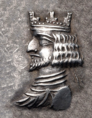 King of Persis Ardashir II with crown, 1st century BCE. King of Persis Ardashir II with crown 1st century BCE.jpg