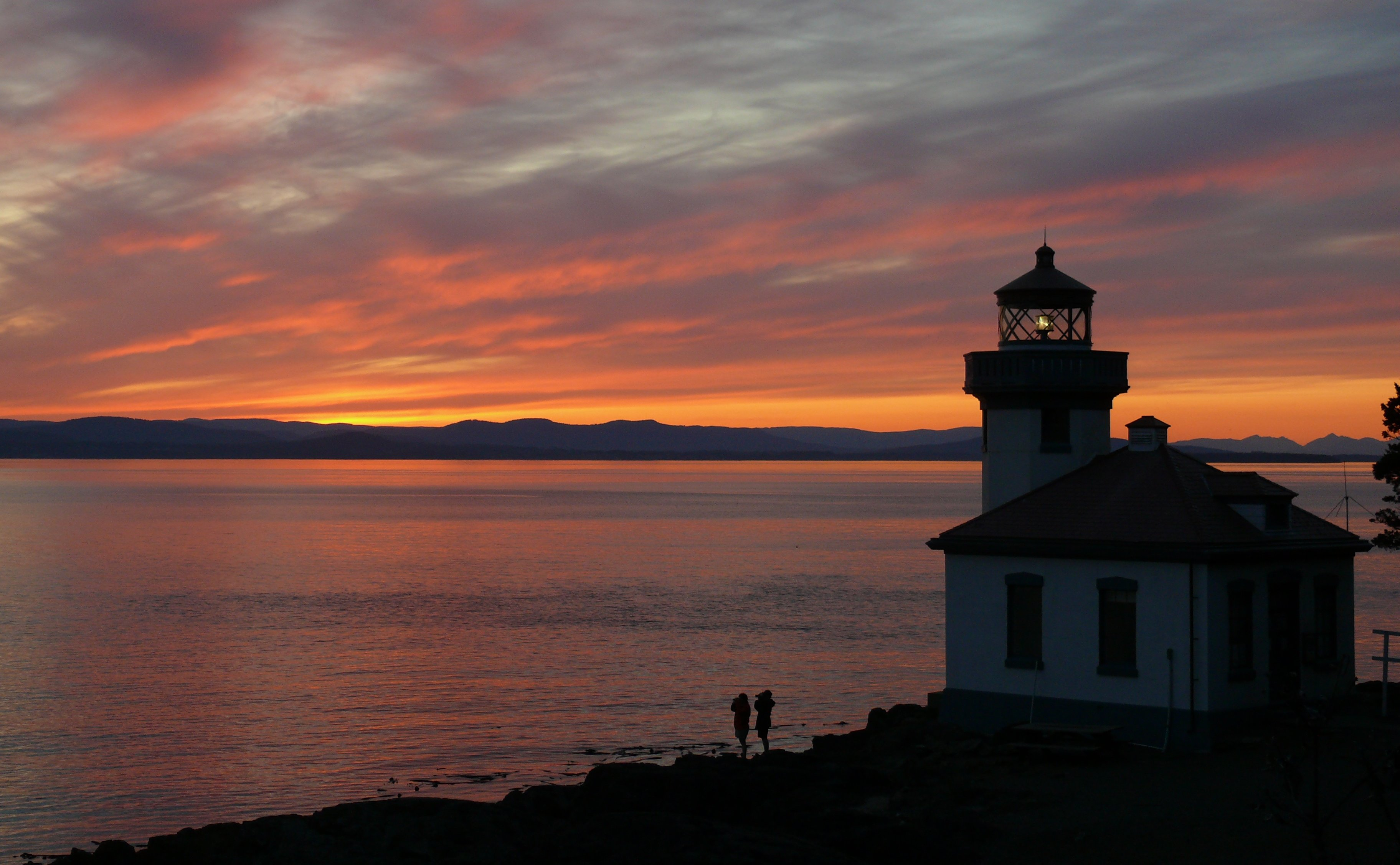 Lighthouse Sunset SJIjpg  Wikimedia Commons