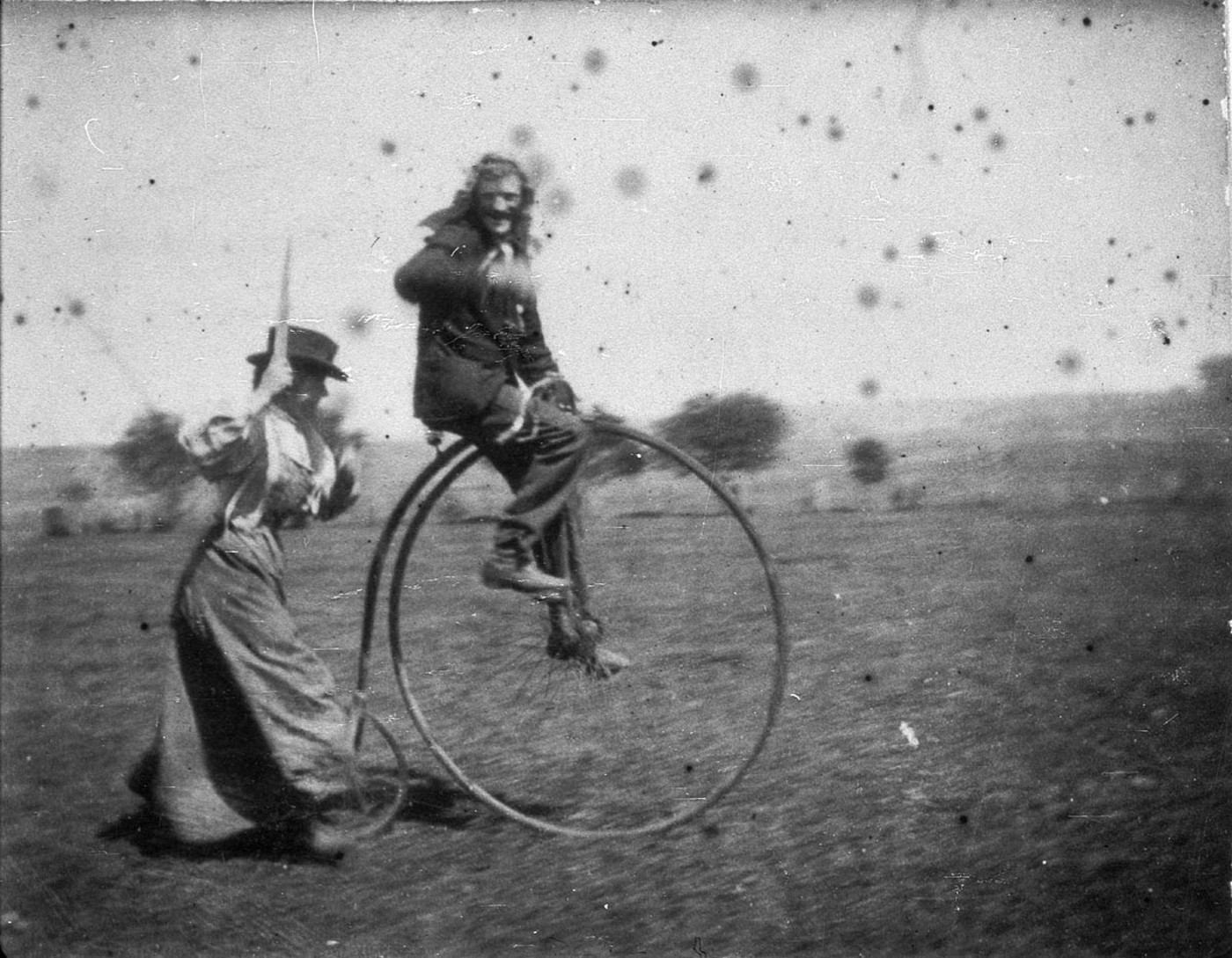 what was unusual about the penny farthing?