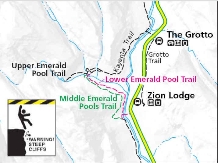 File Map Emerald Pool Trail Jpg Wikimedia Commons