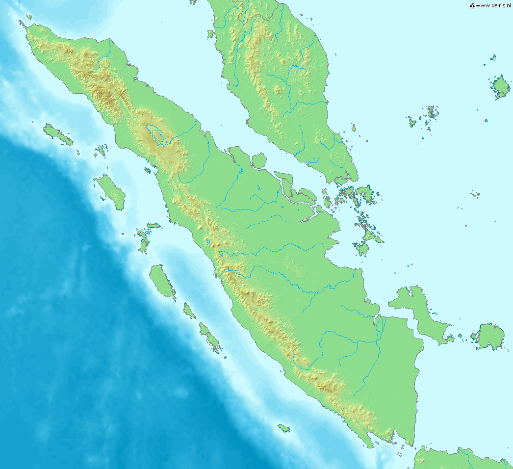 Picture of: File Map Of Sumatra Demis Png Wikimedia Commons