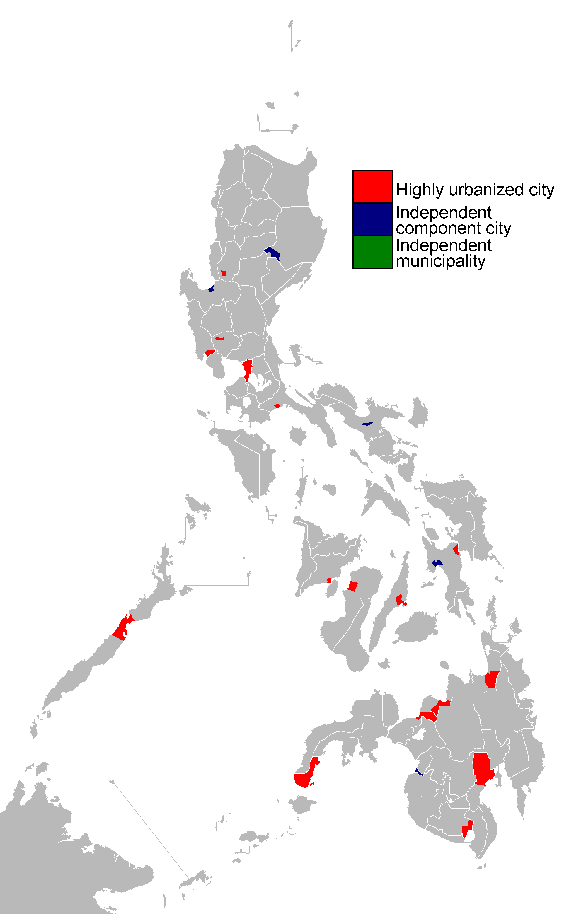 FileMap Of Independent Cities In The Philippinespng Wikimedia - Map of the philippines cities