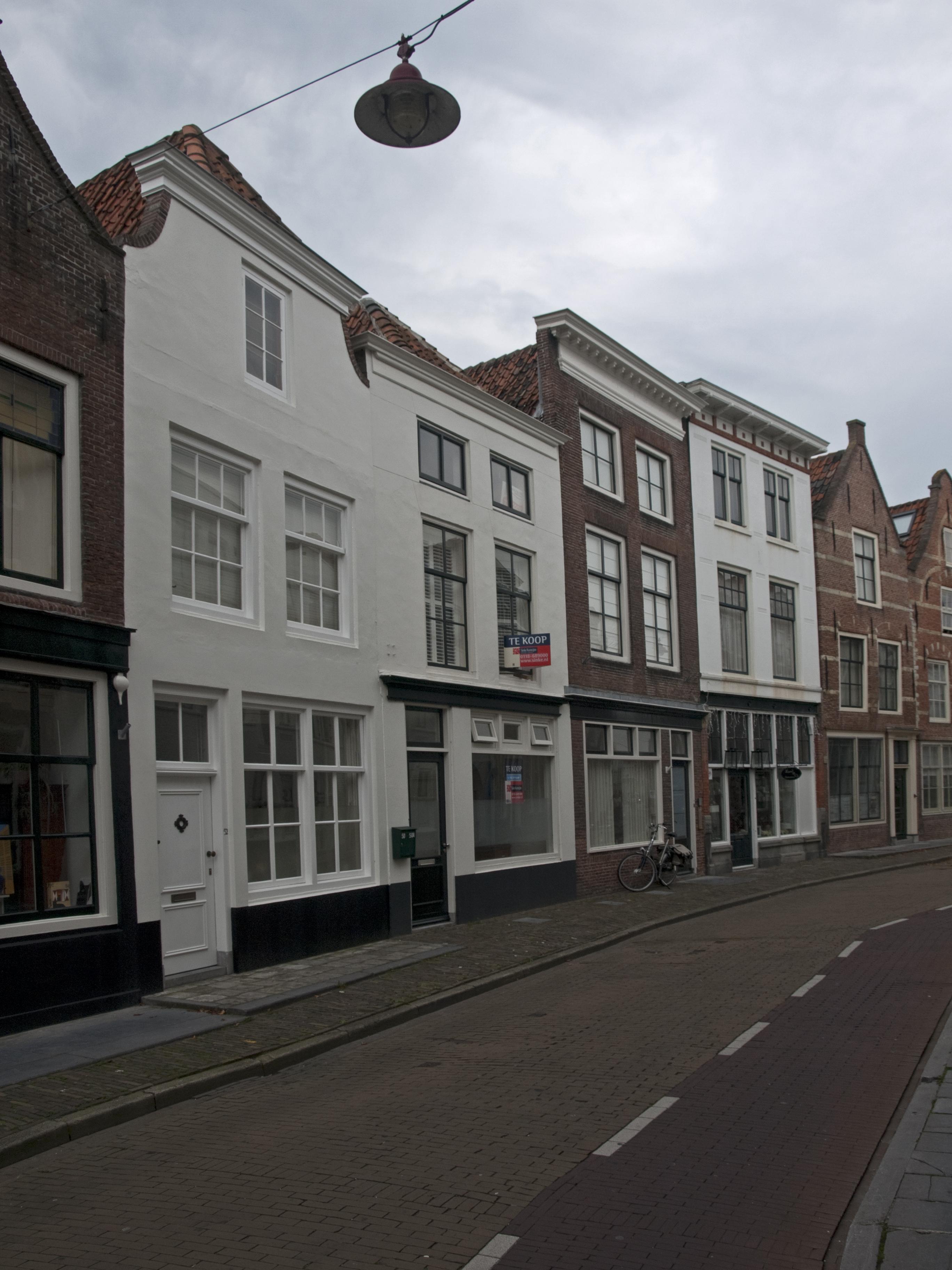 Huis met gepleisterde lijstgevel in middelburg monument - Foto huis in l ...