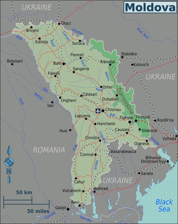 File Moldova Regions Map Png Wikimedia Commons