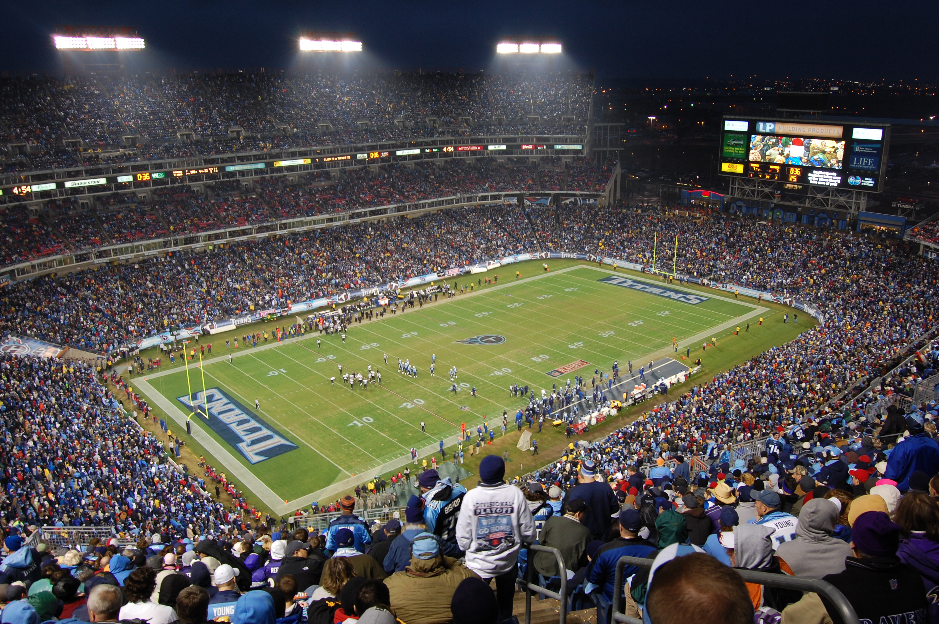 File Night Settles On Lp Field Jpg Wikimedia Commons