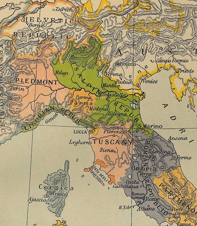 Repubblica Cisalpina - Mappa