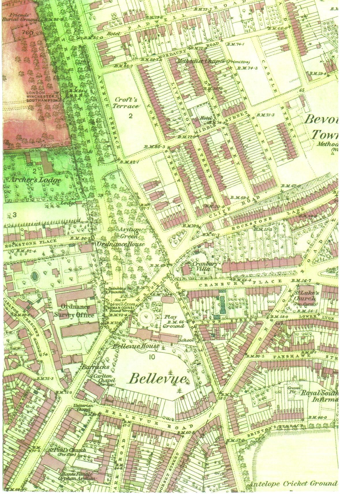 FileOS Map Of SouthamptonOldOSjpg Wikimedia Commons - Old os maps
