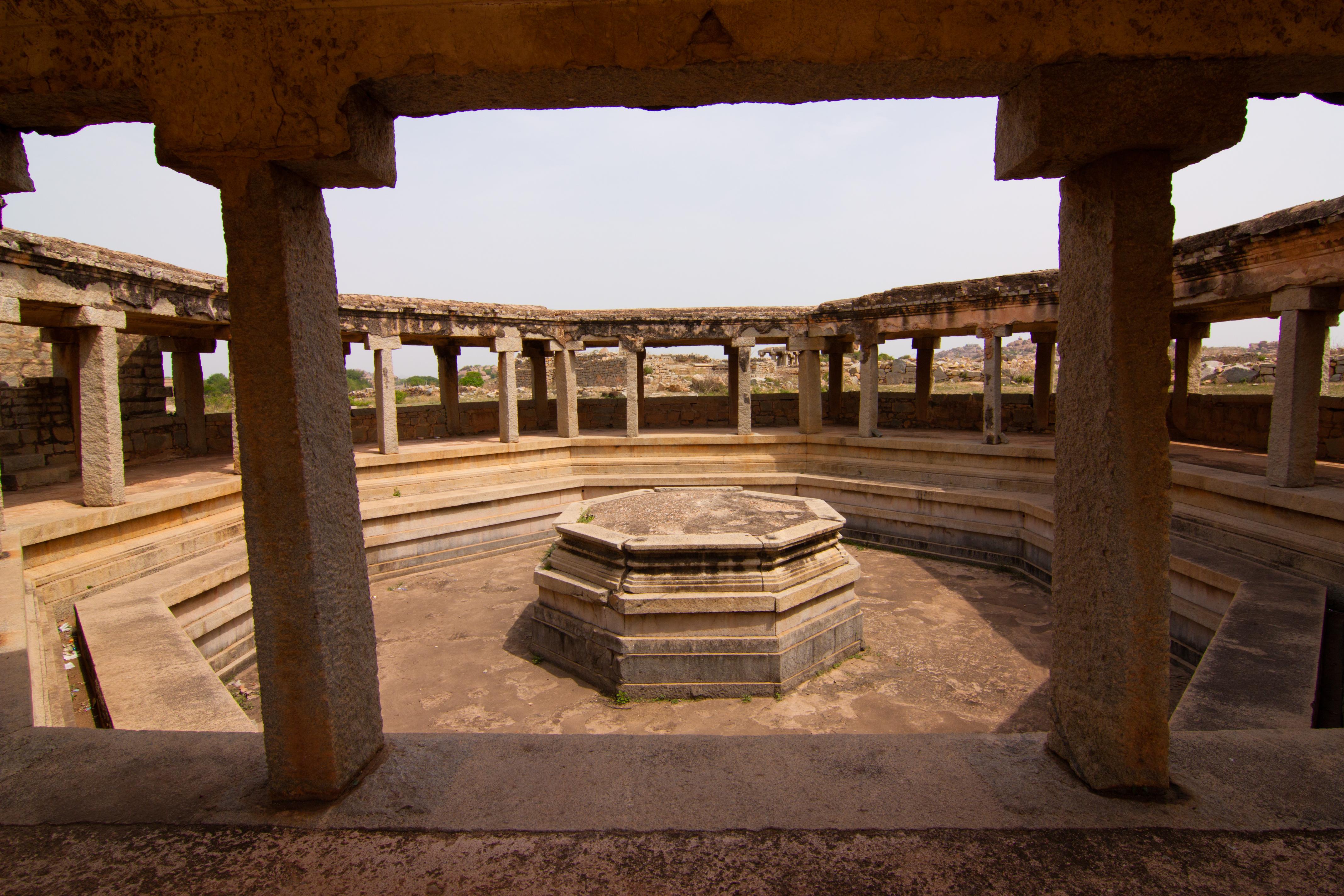 Octagonal Bath, Hampi, India