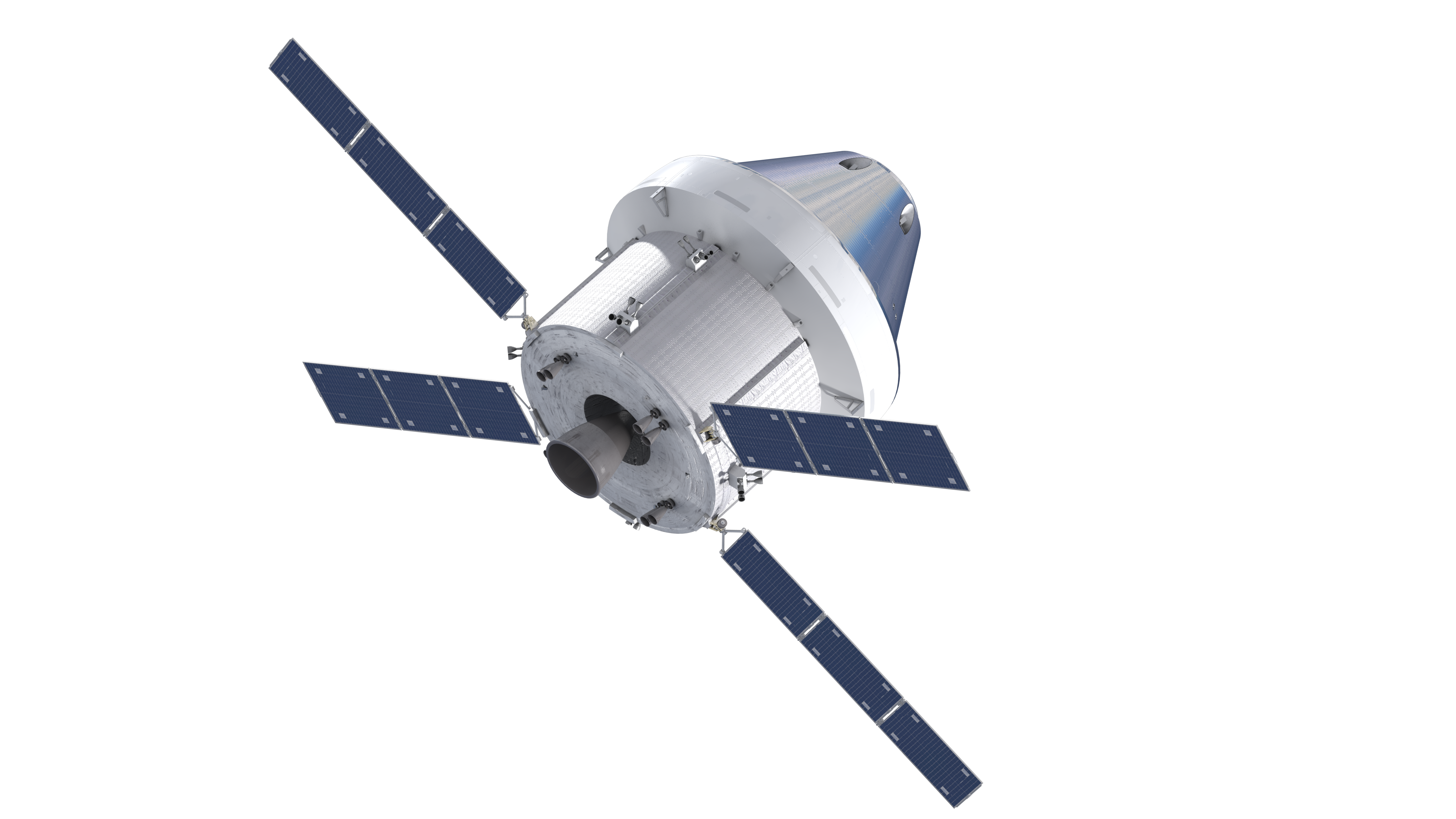 File:Orthographic view of Orion spacecraft, top-back with ...