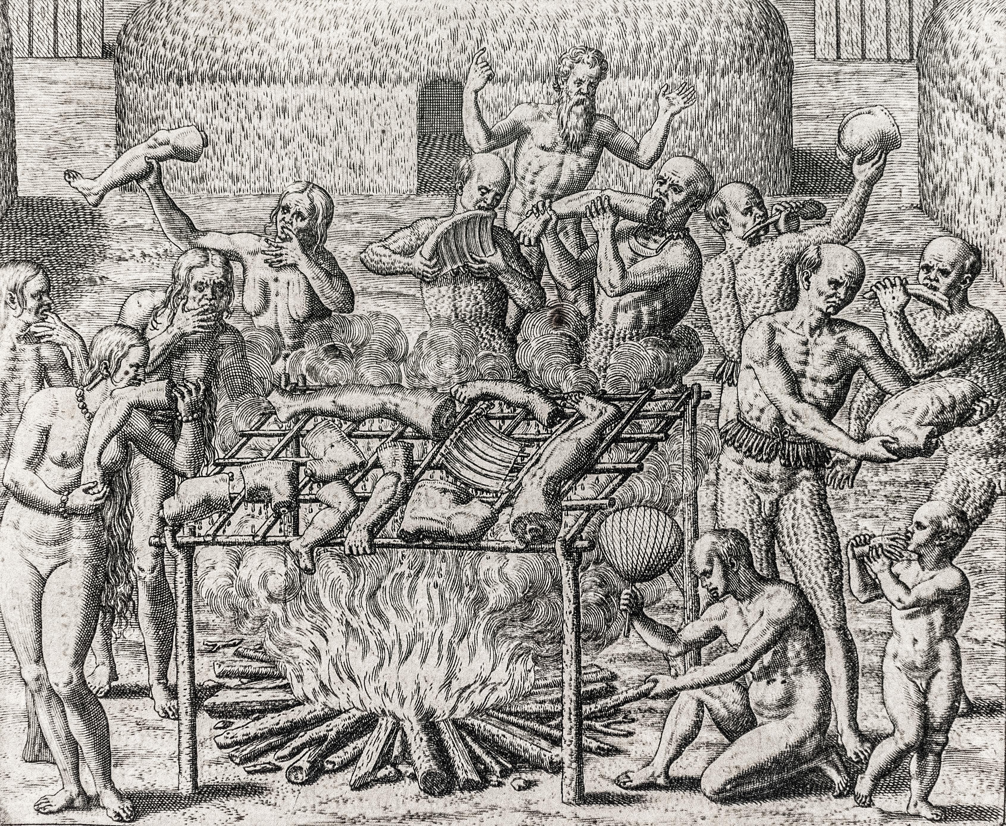 Cannibalism in Brazil in 1557.jpg