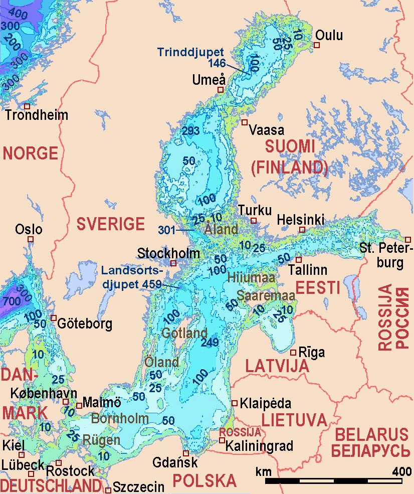 Ostsee – Wikipedia - Karte Deutschland Ostsee