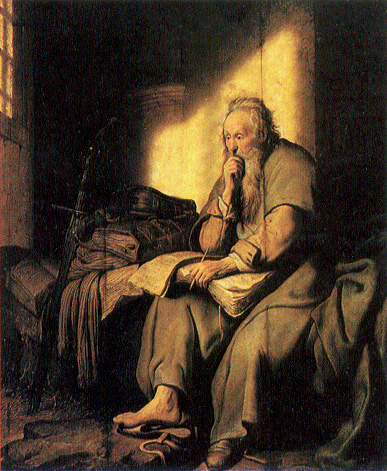Paul in prison by Rembrandt.jpg