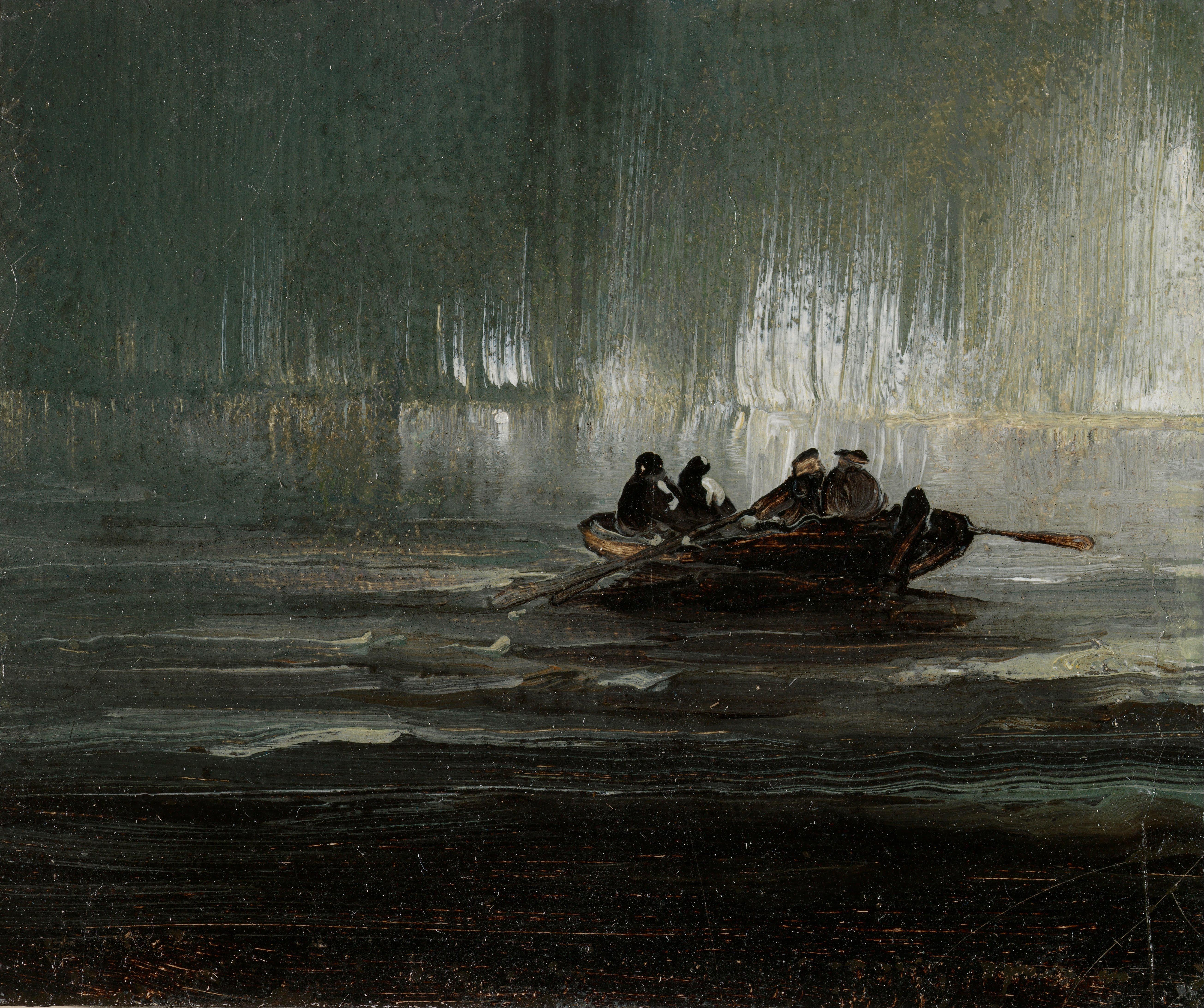 Rowboat Art Paintings
